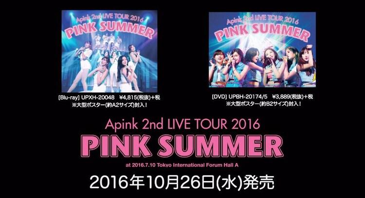 「Apink 2nd LIVE TOUR 2016「PINK SUMMER」トレイラー映像のワンシーン。