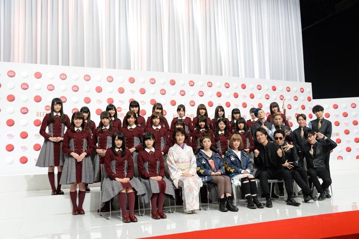 11月24日に行われた「第67回NHK紅白歌合戦」出場歌手発表会見の様子。