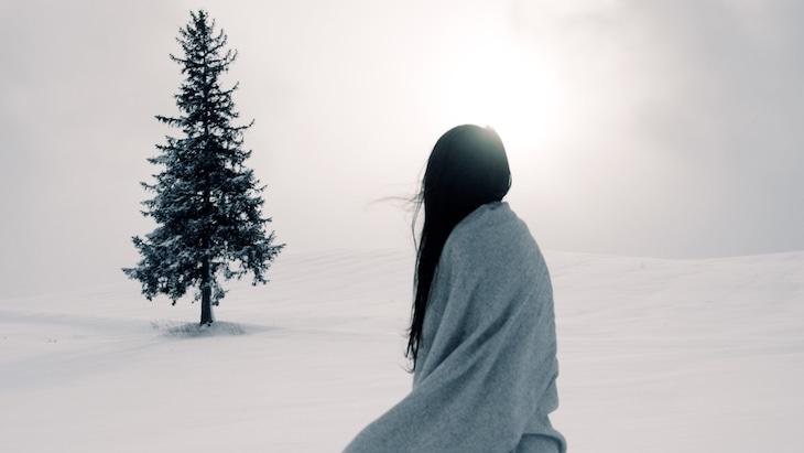 日食なつこ「ログマロープ」ミュージックビデオのワンシーン。