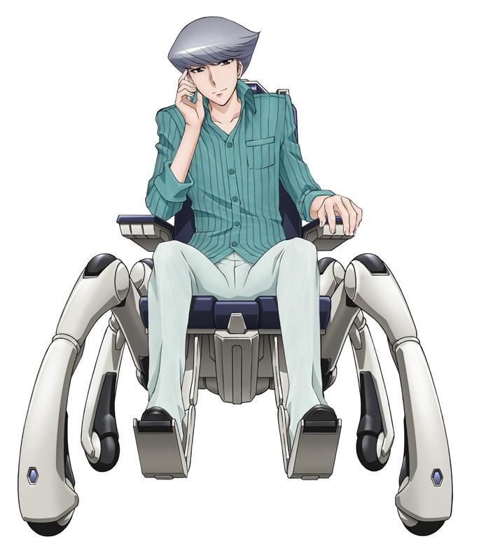 櫻井孝宏が演じる堤茂理也のキャラクターイラスト。