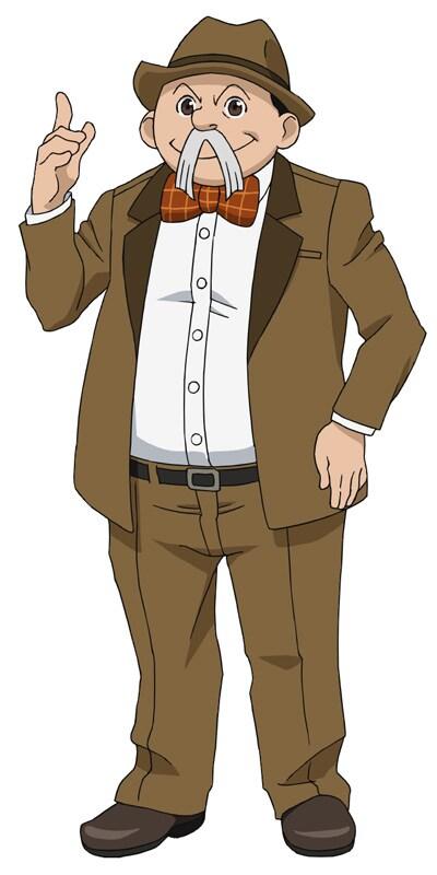 飛田展男が演じる伴健作のキャラクターイラスト。