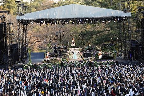 「水樹奈々 出雲大社御奉納公演~月花之宴~」の様子。(撮影:上飯坂一)