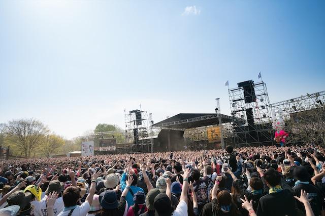 「ARABAKI ROCK FEST.17」会場の様子。(写真提供:ARABAKI PROJECT)