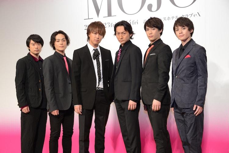 「MOJO」製作発表より、左から尾上寛之、木村了、EXILE TAKAHIRO、波岡一喜、味方良介、横田龍儀。