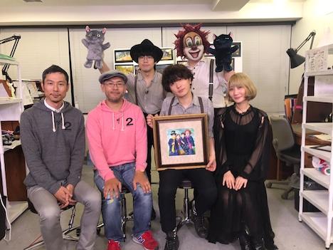 左から西村義明プロデューサー、米林宏昌監督、SEKAI NO OWARI。