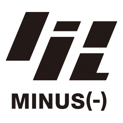 出雲重機によるminus(-)の新ロゴ。