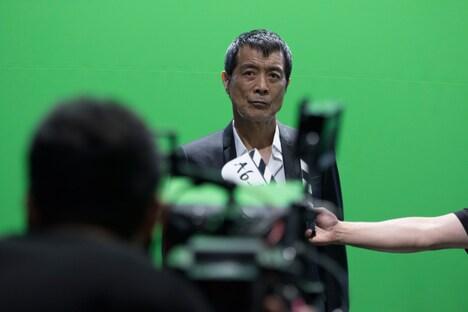 矢沢永吉が出演する「リネージュ2 レボリューション」テレビCM撮影時の様子。
