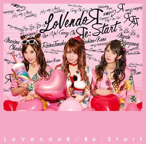 2017年9月にリリースされたLoVendoЯのミニアルバム「Яe:Start」ジャケット。左が岡田万里奈(Vo)。