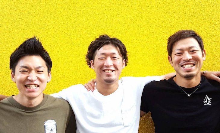 INFOG。右端が佐藤雄大(B, Cho)、左端が高橋洋平(Dr, Cho)。