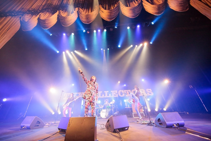 """THE COLLECTORS「THE COLLECTORS 30th Anniversary TOUR """"Roll Up The Collectors""""」東京・中野サンプラザホール公演の様子。(撮影:柴田恵理)"""