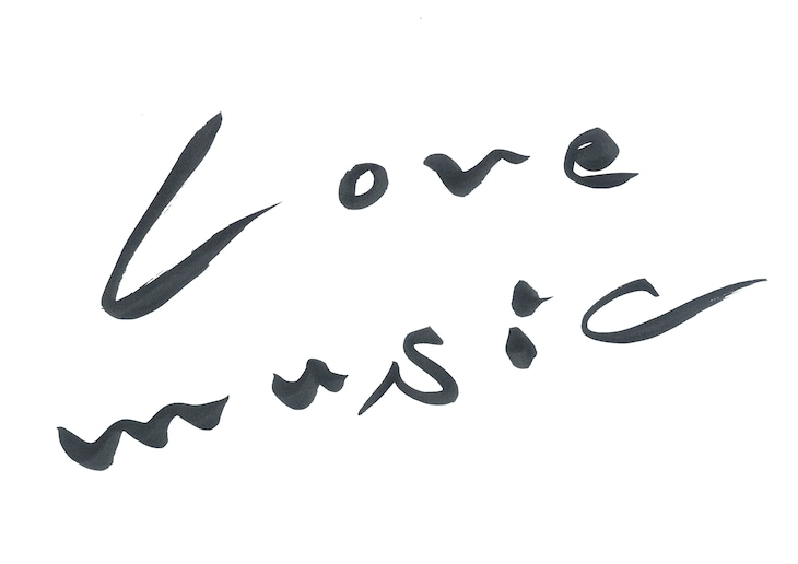 「Love music」ロゴ