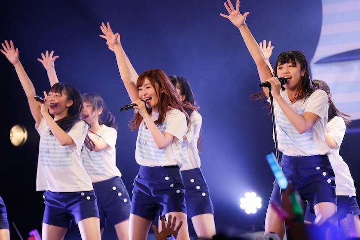 「STU48瀬戸内7県ツアー ~はじめまして、STU48です。~」広島・BLUE LIVE HIROSHIMA公演の様子。(C)STU