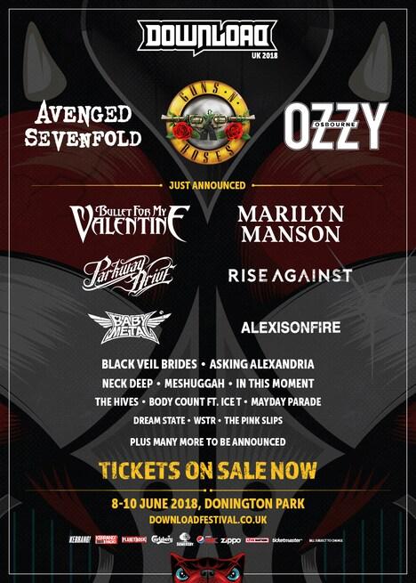 「Download Festival 2018」ポスタービジュアル