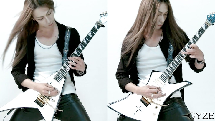「GYZE Ryoji 【Chopin - Revolutionary】METAL GUITAR Jackson RANDY V vs KELLY」のワンシーン。