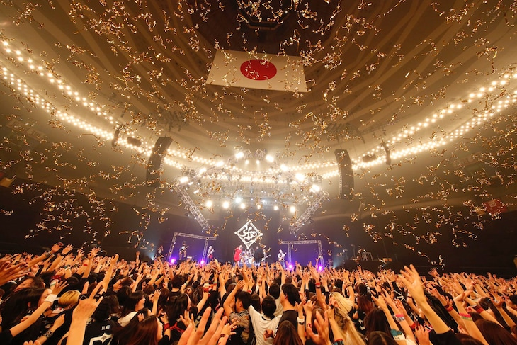 「20TH ANNIVERSARY MUCC祭『えん7 FINAL』in 武道館」の様子。