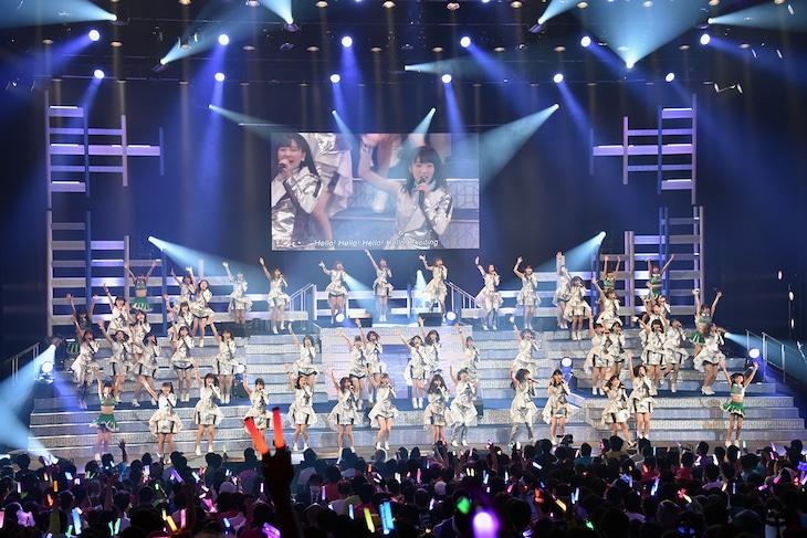「Hello! Project 20th Anniversary!! Hello! Project 2018 WINTER ~PERFECT SCORE~」東京・中野サンプラザホール公演の様子。