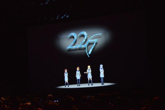 メンバーがリアルタイムで演じたキャラクターによるMCの様子。