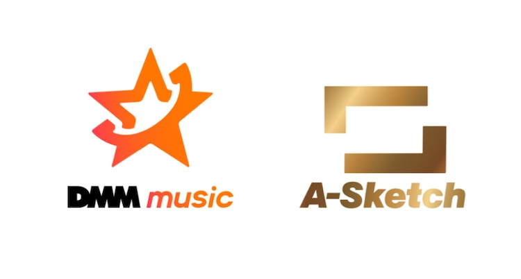 DMM music、A-Sketch ロゴ