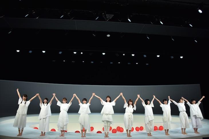 けやき坂46 初舞台公演「あゆみ」チームハーモニカの公開ゲネプロより。