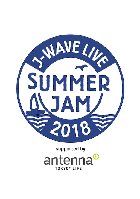 「J-WAVE LIVE SUMMER JAM 2018 supported by antenna」ロゴ