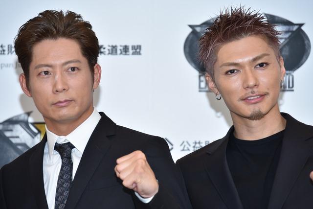 左から黒木啓司、EXILE SHOKICHI。