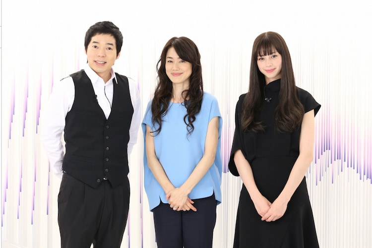 「another sky-アナザースカイ-」スタジオ収録の様子。左から今田耕司、今井美樹、中条あやみ。 (c)日本テレビ