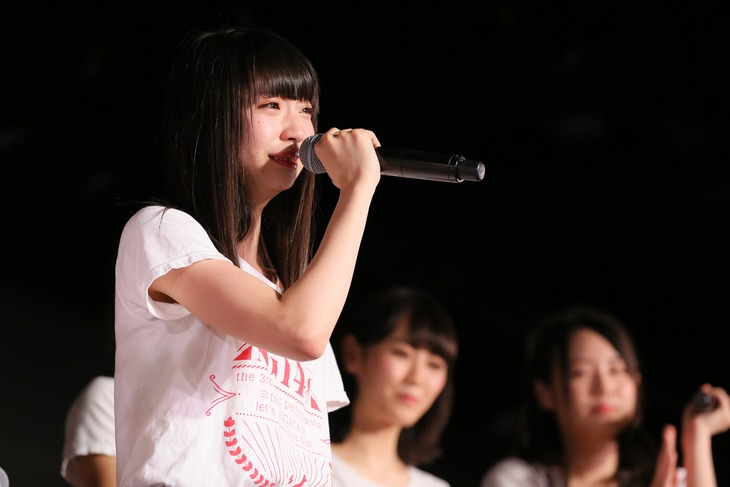 「AKB48 53rdシングル 世界選抜総選挙」速報1位を獲得した荻野由佳(NGT48 チームNIII)。(c)AKS