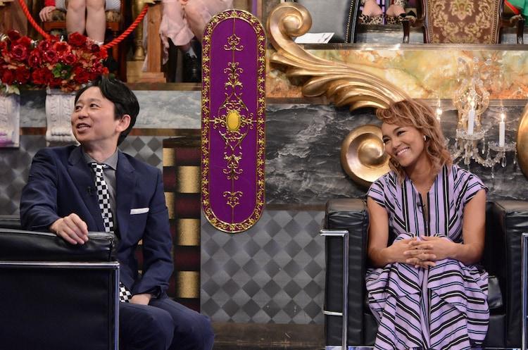 有吉弘行とCrystal Kay。(c)日本テレビ