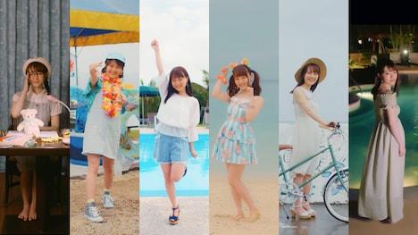 尾崎由香「LET'S GO JUMP☆」ミュージックビデオの場面カット。