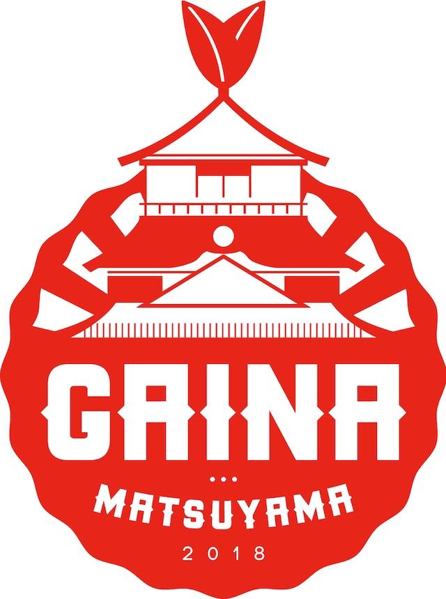 「GAINA MATSUYAMA 2018」ロゴ