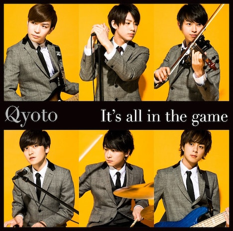 Qyoto「It's all in the game」初回限定盤ジャケット