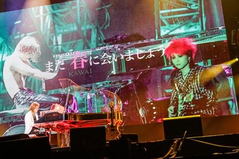 YOSHIKIのライブの様子。
