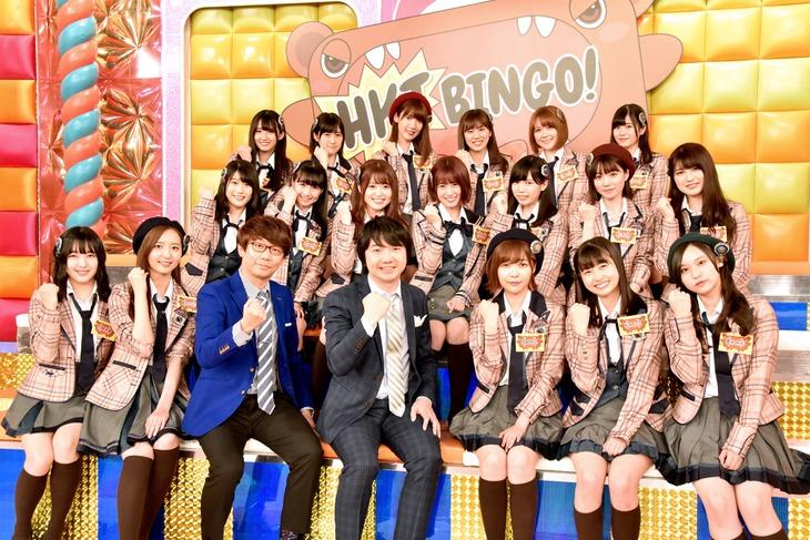 HKT48のメンバーと三四郎。