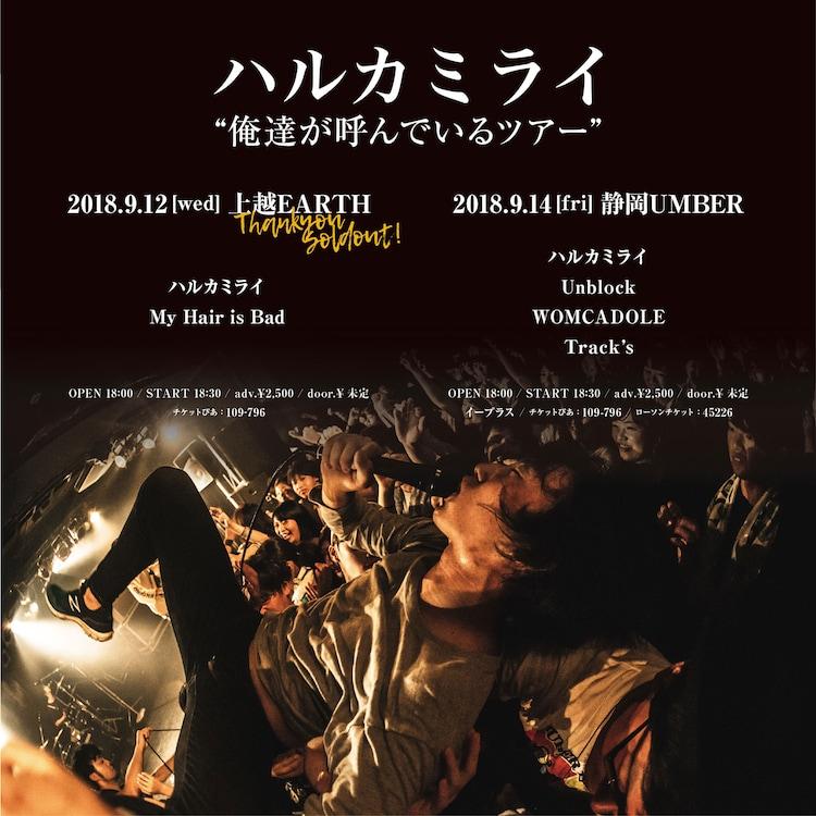 ハルカミライ「俺達が呼んでいるツアー 上越編 / 静岡編」告知ビジュアル