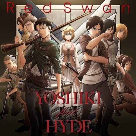 YOSHIKI feat. HYDE「Red Swan」ジャケット