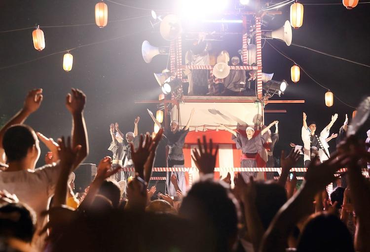 「み霊祭り納涼盆踊り花火大会」の様子。 (撮影:ケイコ・K・オオイシ)