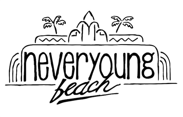 never young beachロゴ