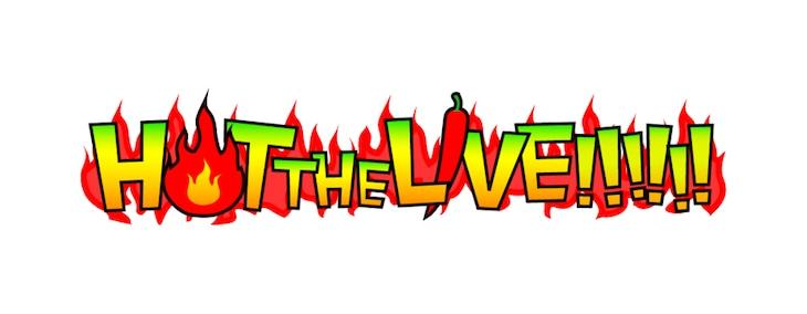 「激辛グルメ祭り presents HOT THE LIVE!!!!!!」ロゴ