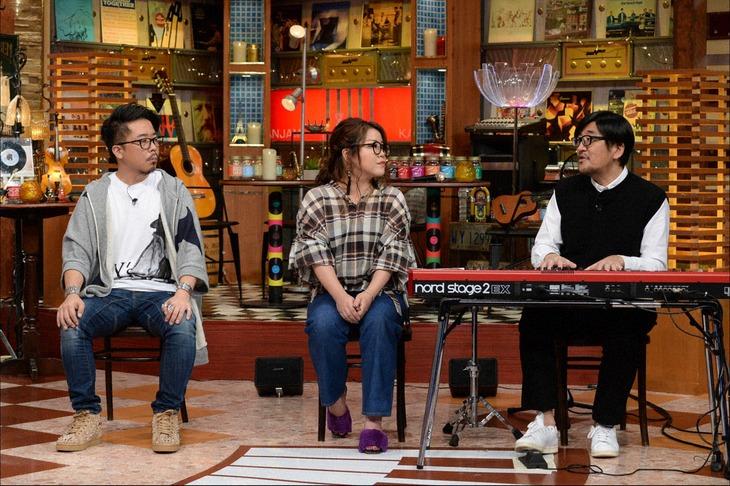 左からzopp、藤林聖子、冨田ラボ。(c)テレビ朝日