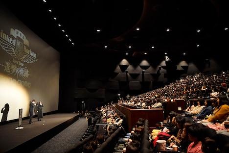 「劇場版 Linked Horizon Live Tour 『進撃の軌跡』 総員集結 凱旋公演」舞台挨拶の様子。(撮影:江隈麗志)
