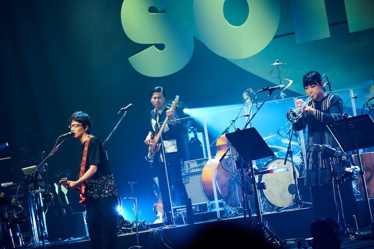 「くるりワンマンライブ2018」中野サンプラザホール公演の様子。(撮影:神藤剛)
