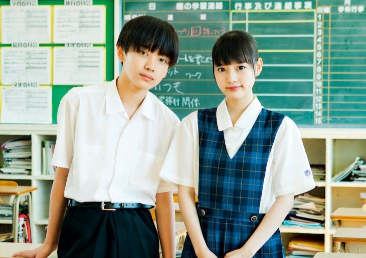 「ナツヨゾラ」に出演する琉弥(M!LK)と齊藤なぎさ(=LOVE)。