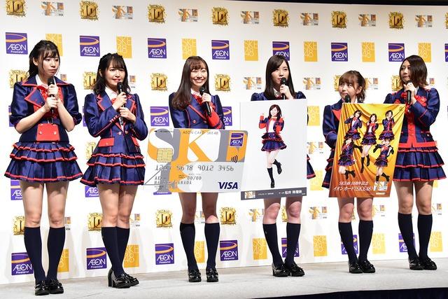 左から荒井優希、惣田紗莉渚、須田亜香里、松井珠理奈、大場美奈、古畑奈和。