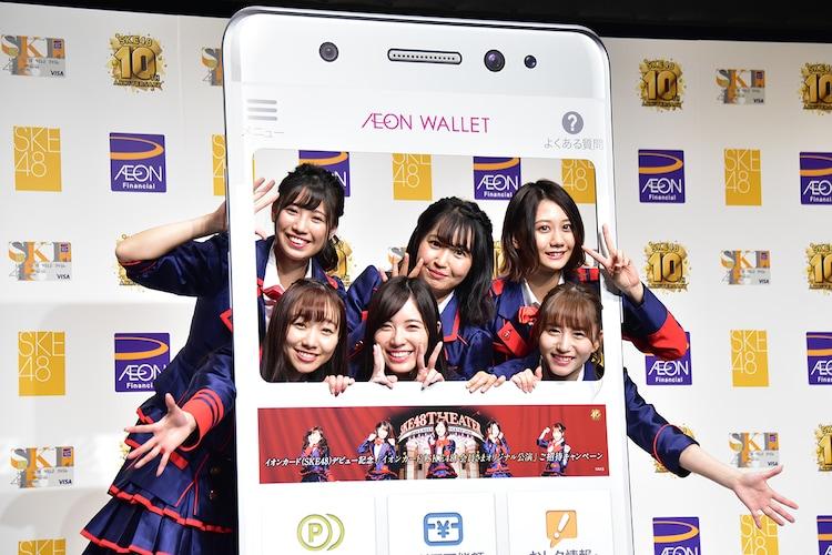 上段左から荒井優希、惣田紗莉渚、古畑奈和、下段左から須田亜香里、松井珠理奈、大場美奈。