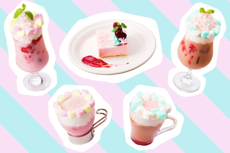 「Love Collection 2 Cafe」コラボメニューイメージ。