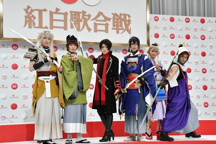 11月14日行われた「第69回NHK紅白歌合戦」出場歌手発表会見に出席したときの刀剣男士。