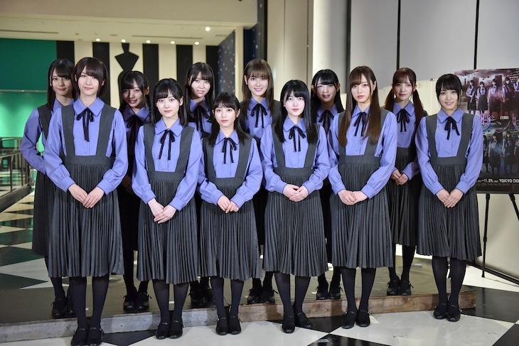 乃木坂46、欅坂46、けやき坂46合同の舞台「ザンビ」初日前会見の様子。