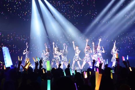 モーニング娘。'18「モーニング娘。'18コンサートツアー秋~GET SET, GO!~ファイナル 飯窪春菜卒業スペシャル」の様子。