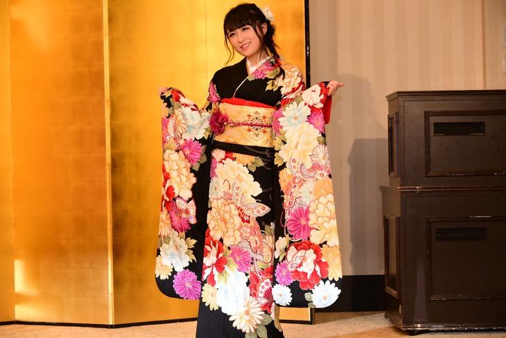 2019年1月の成人式のときの川本紗矢。