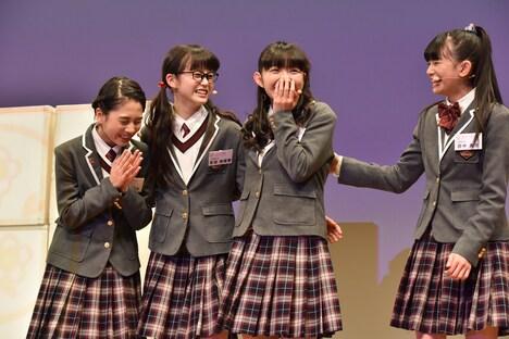 左から野中ここな、吉田爽葉香、麻生真彩、田中美空。